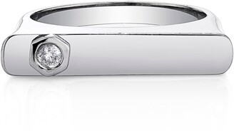 Sheryl Lowe Bezel Diamond Bar Ring
