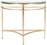 Safavieh Baur Antique Gold Glass Console Table