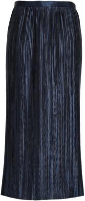 Tibi Plisse-satin Midi Skirt
