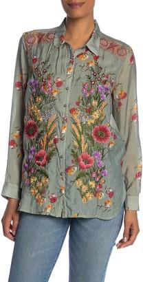 Aratta Mia Grace Long Sleeve Woven Floral Shirt