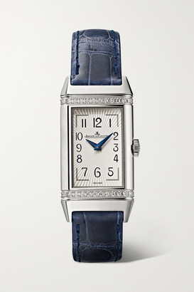 Jaeger-LeCoultre Reverso One Duetto 20mm Stainless Steel, Diamond And Alligator Watch - Silver