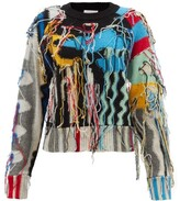 Thumbnail for your product : Charles Jeffrey Loverboy Guddle Tasselled Wool-blend Sweater - Black Multi