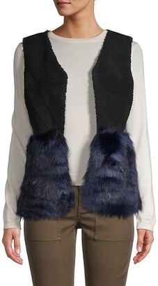 Saks Fifth Avenue Faux Fur Vest