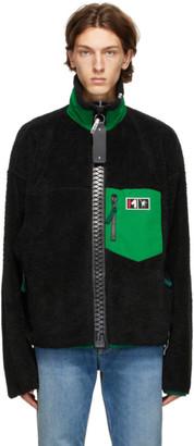 Miharayasuhiro Black Boa Zip-Up Jacket