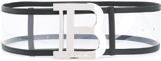 Balmain Logo-Buckle Clear Belt