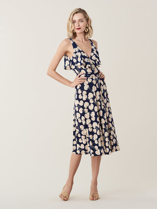 Diane von Furstenberg Naya Ruffled Silk-Jersey Wrap Dress
