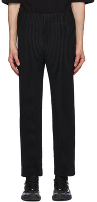 Homme Plissé Issey Miyake Black Pleated Straight Trousers