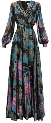 Peter Pilotto Balloon-sleeve Silk-blend Georgette Gown - Womens - Multi