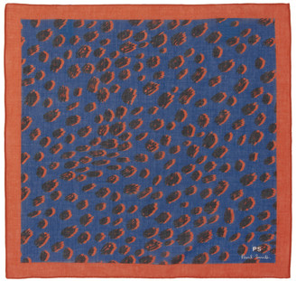 Paul Smith Blue Cheetah Pocket Square