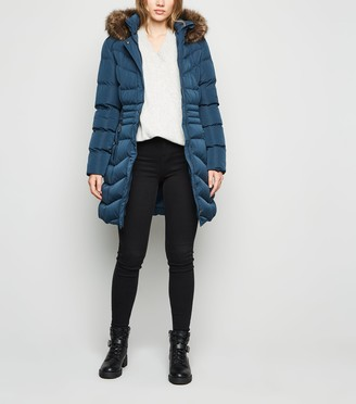 New Look Belted Longline Puffer Jacket