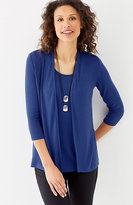 J. Jill Wearever Ultrafine Ballet-Sleeve Cardi