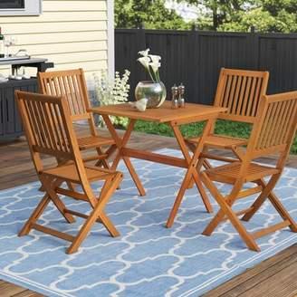 Three Posts Cadsden 5 Piece Folding Bistro Dining Set