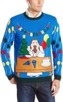 Blizzard Bay Men's Happy Birthday Jesus Ugly Christmas Sweater