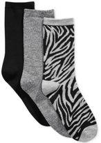 Charter Club Women's 3-Pk. Zebra Socks, Only at Macy's