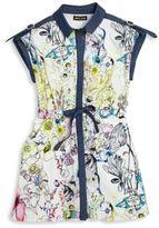 Roberto Cavalli Toddler's. Little Girl's & Girl's Floral-Print Shirtdress