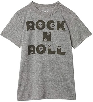 Chaser Tri-Blend Crew Neck Short Sleeve T-Shirt (Little Kids/Big Kids) (Streaky Grey 1) Boy's T Shirt