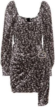 Dodo Bar Or Embellished floral velvet minidress