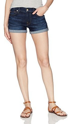 7 For All Mankind Women's Roll Up Short-Squiggle