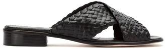 Sarah Chofakian Leather Woven Flat Sandals