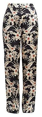 Altuzarra Women's Bani Floral Silk Trousers