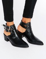 Asos Rambler Leather Western Boots
