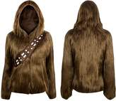 Mighty Fine Star Wars I Am Furry Chewbacca Womens Costume Zip-Up Jacket | L