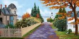 Canvas Art USA Fall Street by Julie Peterson - Giclee Canvas Art Print