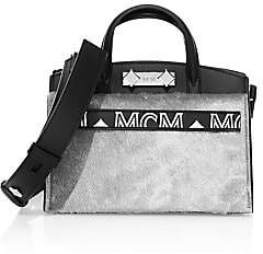 MCM Women's Mini Milano Lux Calf Hair Leather Tote