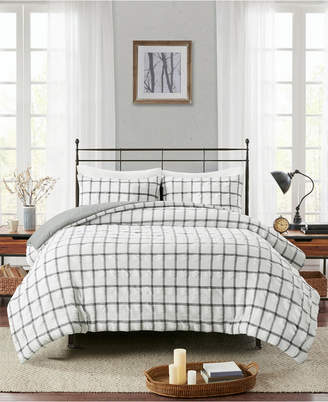 Madison Home USA Kinney Full/Queen 3-Pc. Yarn Dye Polyester Seersucker Duvet Cover Set Bedding