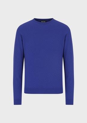 Giorgio Armani Jacquard Sweater With Diamond Motif