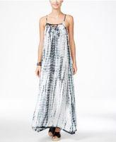 Raviya Tie-Dyed Lattice-Back Maxi Dress Cover-Up