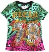 Philipp Plein Junior Embellished Print Cotton Jersey T-Shirt