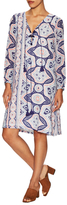 Antik Batik Cotton Print Blouson Shift Dress