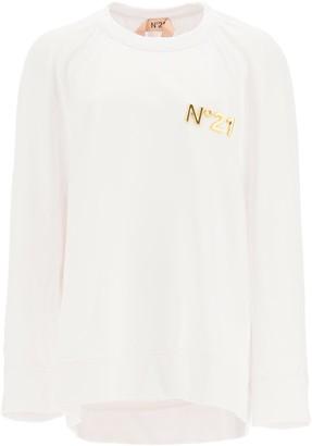 N°21 N.21 Over Sweatshirt With Golden Logo