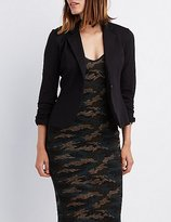 Charlotte Russe Ruched Sleeve Blazer