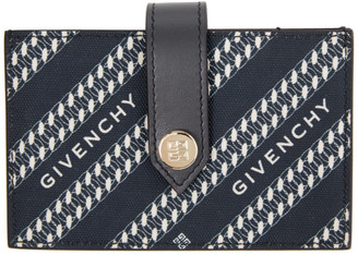 Givenchy Navy Diagonal Logo Wallet
