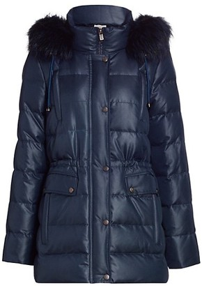 The Fur Salon Norman Ambrose For Fox Fur Hood Puffer Coat