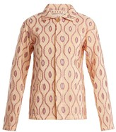 Marni Embroidered-eyelet Taffeta Jacket - Womens - Pink Multi