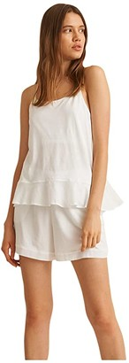 Skin Natural Candice Organic Cotton/Modal Cami (White) Women's Clothing