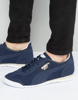 Puma Roma Og Leather Trainers Blue 36132003