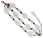 Erickson Beamon Gunmetal Rock Crystal Multi-Strand Bracelet