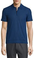 CNC Costume National Short-Sleeve Polo Shirt, Cobalt