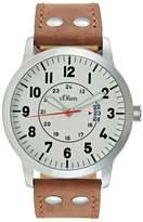 s.Oliver RED LABEL Watch braun/weiss