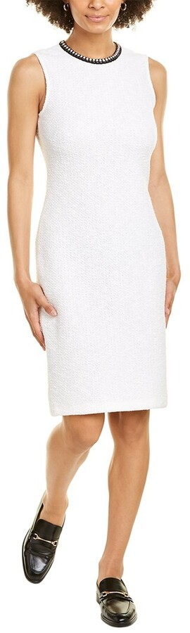 St. John Ana Wool-Blend Sheath Dress