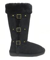 Black Triple-Buckle Boot