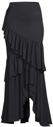 Chiara Boni Leonarda Tiered Ruffle Maxi Dress