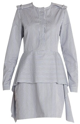 Stella McCartney Organic Cotton Striped Tiered Short Dress