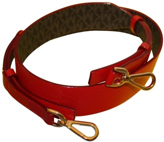 Michael Kors Red Leather Belts