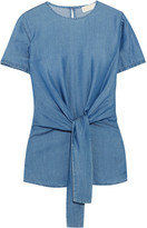 MICHAEL Michael Kors Chambray Top - Blue