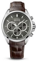 Hugo Boss 1513035 Chronograph Croc-Embossed Leather Strap Driver Watch One Size Assorted-Pre-Pack